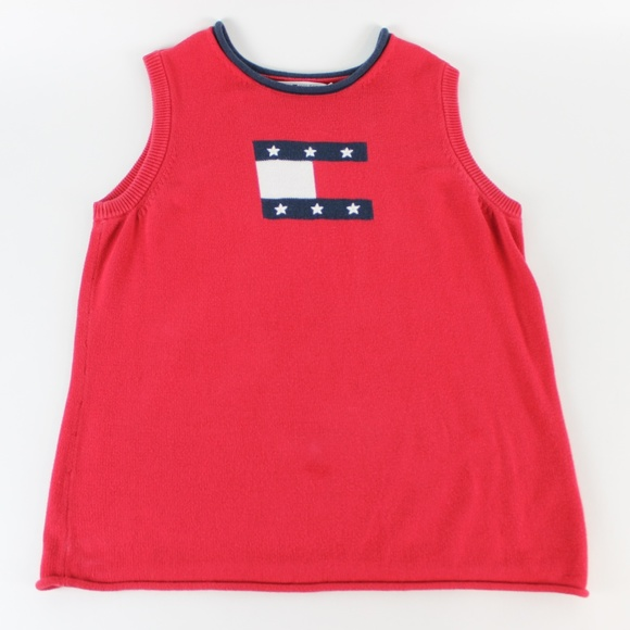 5fd96a88 Tommy Hilfiger Sweaters | Womens Cable Knit Sweater Vest Red | Poshmark